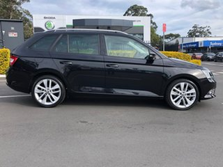 2017 Skoda Fabia NJ MY17 81TSI DSG Black 7 Speed Sports Automatic Dual Clutch Wagon