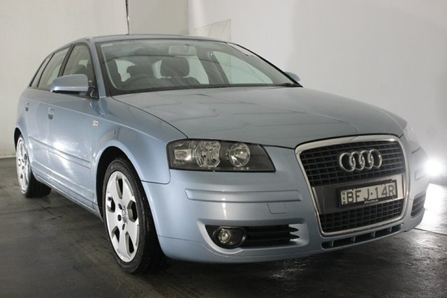 Used Audi A3 8P Ambition Sportback S Tronic, 2008 Audi A3 8P Ambition Sportback S Tronic Liquid Blue 6 Speed Sports Automatic Dual Clutch