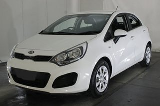 2013 Kia Rio UB MY13 S White 4 Speed Sports Automatic Hatchback