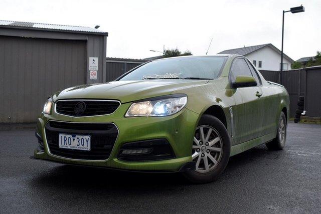 Used Holden Ute VF MY14 SV6 Ute, 2014 Holden Ute VF MY14 SV6 Ute Green 6 Speed Manual Utility