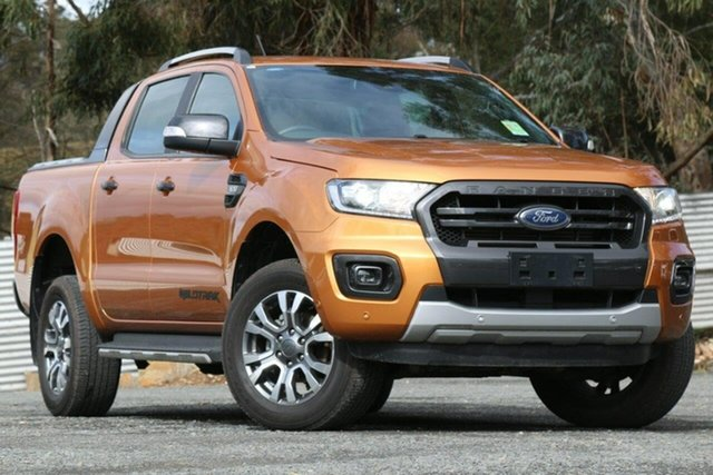 Used Ford Ranger PX MkIII 2019.00MY Wildtrak Clare, 2018 Ford Ranger PX MkIII 2019.00MY Wildtrak Orange 6 Speed Manual Utility