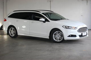 2015 Ford Mondeo MD Ambiente White 6 Speed Automatic Wagon.