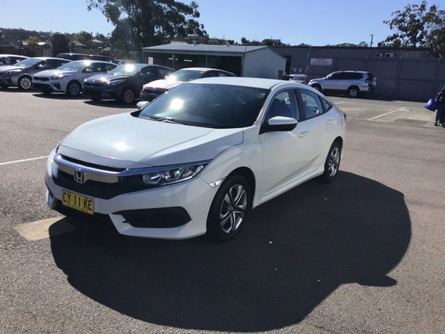Used Honda Civic 10th Gen MY16 VTi, 2017 Honda Civic 10th Gen MY16 VTi White 1 Speed Constant Variable Sedan