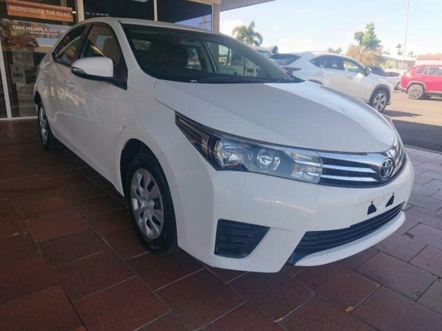 Used Toyota Corolla ZRE172R Ascent, 2016 Toyota Corolla ZRE172R Ascent Glacier White 7 Speed CVT Auto Sequential Sedan