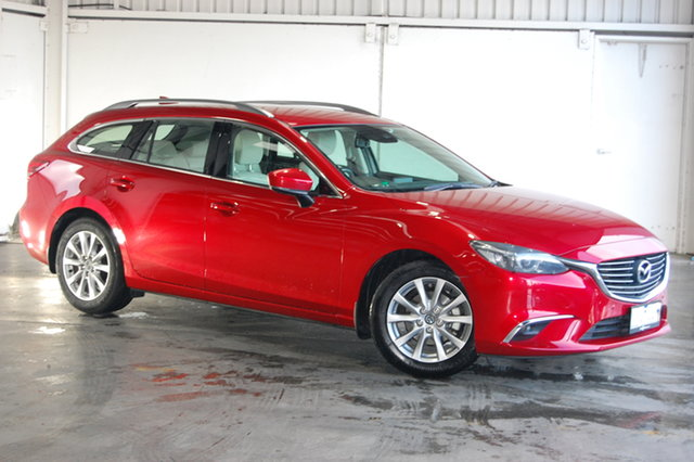 Used Mazda 6 GL1031 Touring SKYACTIV-Drive, 2017 Mazda 6 GL1031 Touring SKYACTIV-Drive Red 6 Speed Sports Automatic Wagon