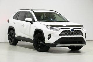 2019 Toyota RAV4 Axah52R Cruiser 2WD Hybrid White Continuous Variable Wagon.