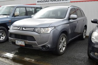 2013 Mitsubishi Outlander ZJ MY13 ES 2WD Grey 6 Speed Constant Variable Wagon.