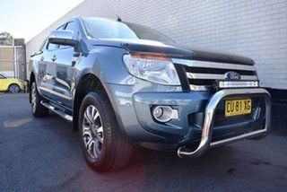 2014 Ford Ranger PX XLT Double Cab Green 6 Speed Sports Automatic Double Cab Pick Up.