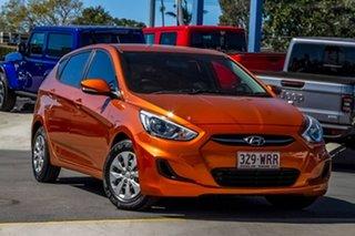 2016 Hyundai Accent RB3 MY16 Active Orange 6 Speed Manual Hatchback.