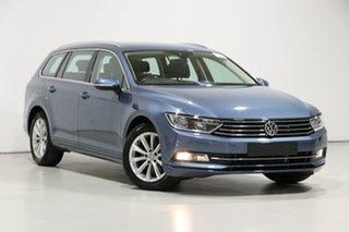 2018 Volkswagen Passat 3C MY18 132 TSI Comfortline Harvard Blue 7 Speed Auto Direct Shift Wagon.