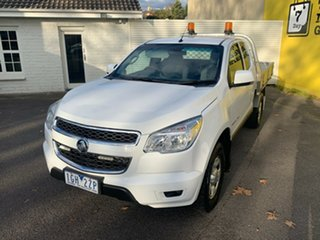 2015 Holden Colorado RG MY16 LS Space Cab White 6 Speed Manual Cab Chassis.