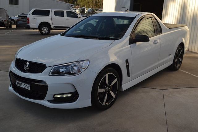 Used Holden Ute VF II MY16 SV6 Ute Black, 2016 Holden Ute VF II MY16 SV6 Ute Black Heron White 6 Speed Sports Automatic Utility