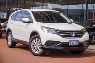 2014 Honda CR-V RM MY15 VTi White 5 Speed Automatic Wagon.