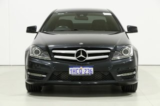 2014 Mercedes-Benz C250 W204 MY14 Magnetite Black 7 Speed Automatic G-Tronic Coupe.