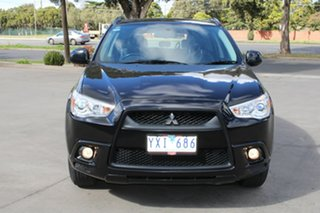 2012 Mitsubishi ASX XA MY12 Platinum Edition (2WD) Black Continuous Variable Wagon.
