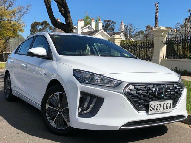 Demo Hyundai Ioniq AE.3 MY20 plug-in DCT Elite Nailsworth, 2020 Hyundai Ioniq AE.3 MY20 plug-in DCT Elite Polar White 6 Speed Sports Automatic Dual Clutch