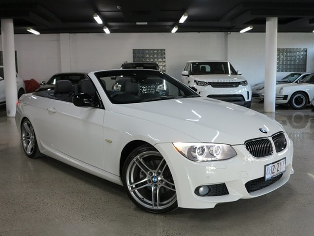 Used BMW 3 Series E93 MY1112 320d Steptronic, 2013 BMW 3 Series E93 MY1112 320d Steptronic White 6 Speed Sports Automatic Convertible