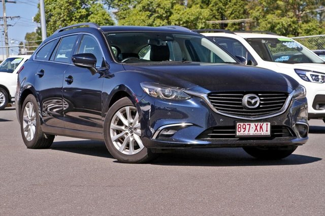 Used Mazda 6 GL1031 Touring SKYACTIV-Drive, 2017 Mazda 6 GL1031 Touring SKYACTIV-Drive Blue 6 Speed Sports Automatic Wagon