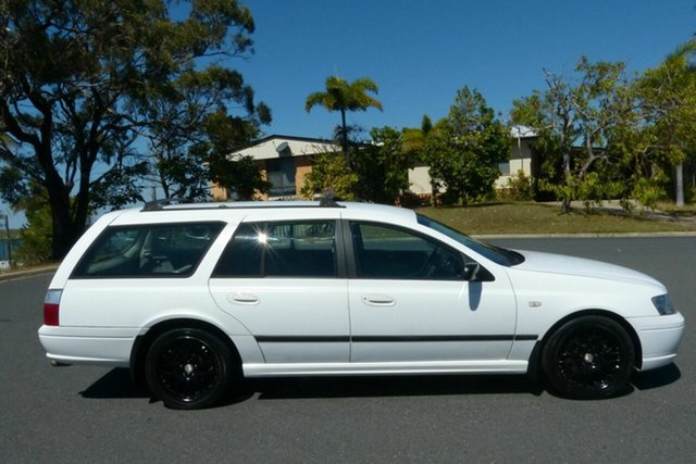 Used Ford Falcon BF XT Gladstone, 2006 Ford Falcon BF XT White 4 Speed Sports Automatic Wagon