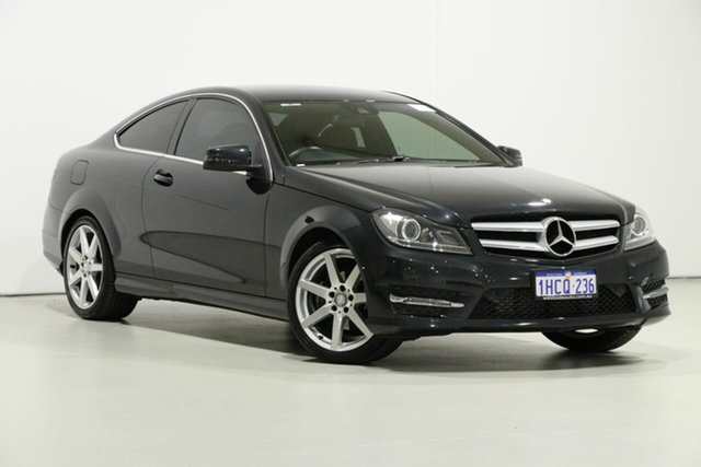 Used Mercedes-Benz C250 W204 MY14 , 2014 Mercedes-Benz C250 W204 MY14 Magnetite Black 7 Speed Automatic G-Tronic Coupe