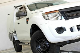 2015 Ford Ranger PX XL 2.2 Hi-Rider (4x2) White 6 Speed Automatic Super Cab Chassis.