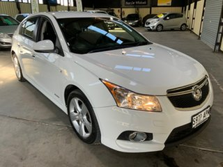 2012 Holden Cruze JH Series II MY12 SRi-V White 6 Speed Sports Automatic Hatchback.