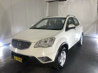 2013 Ssangyong Korando C200 S 2WD White 6 Speed Manual Wagon.