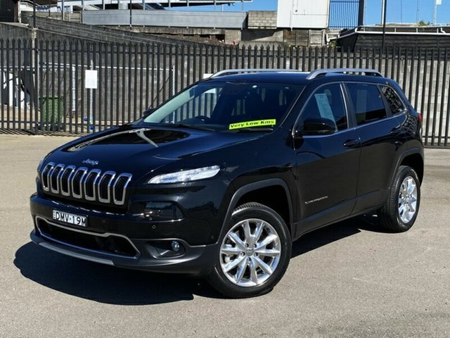 Used Jeep Cherokee KL MY16 Limited, 2015 Jeep Cherokee KL MY16 Limited Black 9 Speed Sports Automatic Wagon
