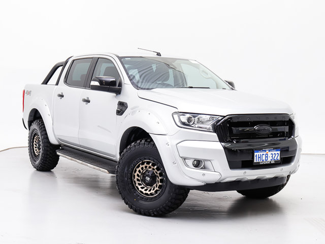 Used Ford Ranger PX MkII MY18 XLT 3.2 (4x4), 2018 Ford Ranger PX MkII MY18 XLT 3.2 (4x4) Silver 6 Speed Manual Double Cab Pick Up