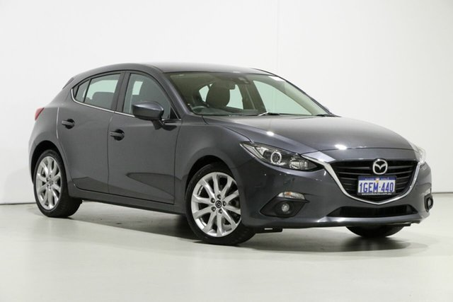 Used Mazda 3 BM MY15 SP25 Bentley, 2016 Mazda 3 BM MY15 SP25 Grey 6 Speed Automatic Hatchback