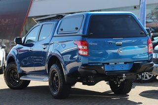 2018 Mitsubishi Triton MQ MY18 Exceed (4x4) Blue 5 Speed Automatic Dual Cab Utility.