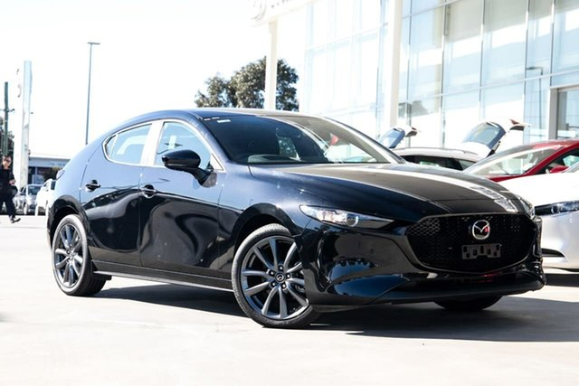 New Mazda 3 BP G25 Evolve Vision Kirrawee, 2020 Mazda 3 BP G25 Evolve Vision Jet Black 6 Speed Manual Hatchback
