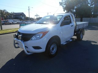 2013 Mazda BT-50 MY13 XT Hi-Rider (4x2) White 6 Speed Manual Cab Chassis.