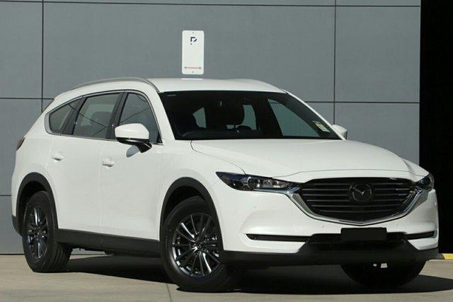 New Mazda CX-8 KG4W2A Touring SKYACTIV-Drive i-ACTIV AWD, 2020 Mazda CX-8 KG4W2A Touring SKYACTIV-Drive i-ACTIV AWD Snowflake White 6 Speed Sports Automatic