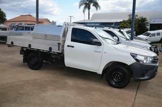 2019 Toyota Hilux TGN121R MY19 Upgrade Workmate White 5 Speed Manual Cab Chassis.