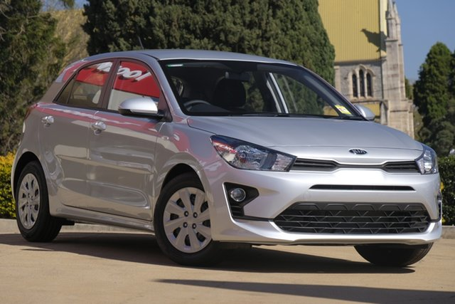 New Kia Rio YB MY21 S St Marys, 2020 Kia Rio YB MY21 S Silky Silver 6 Speed Automatic Hatchback