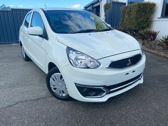 Used Mitsubishi Mirage LA MY18 ES, 2018 Mitsubishi Mirage LA MY18 ES White 1 Speed Constant Variable Hatchback