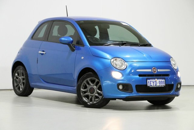 Used Fiat 500 MY14 S, 2014 Fiat 500 MY14 S Blue 5 Speed Automatic Hatchback