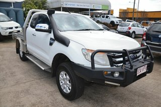 2012 Ford Ranger PX XLT 3.2 (4x4) White 6 Speed Manual Super Cab Utility.