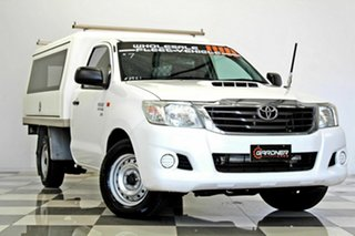 2015 Toyota Hilux KUN16R MY14 SR White 5 Speed Manual Cab Chassis.
