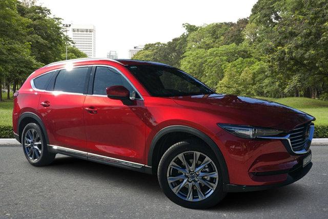 Demo Mazda CX-8 KG4W2A Asaki SKYACTIV-Drive i-ACTIV AWD, 2020 Mazda CX-8 KG4W2A Asaki SKYACTIV-Drive i-ACTIV AWD Soul Red 6 Speed Sports Automatic Wagon