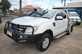 2012 Ford Ranger PX XLT 3.2 (4x4) White 6 Speed Manual Super Cab Utility