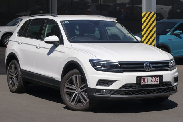 Demo Volkswagen Tiguan 5N MY20 162TSI DSG 4MOTION Highline, 2019 Volkswagen Tiguan 5N MY20 162TSI DSG 4MOTION Highline Pure White 7 Speed