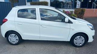 2018 Mitsubishi Mirage LA MY18 ES White 1 Speed Constant Variable Hatchback.