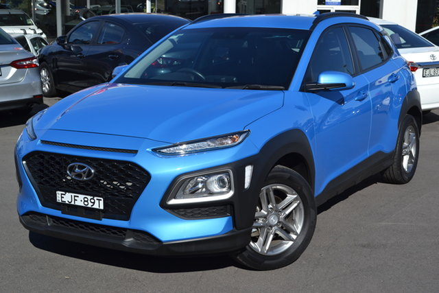 Used Hyundai Kona OS.2 MY19 Active 2WD, 2018 Hyundai Kona OS.2 MY19 Active 2WD Blue 6 Speed Sports Automatic Wagon