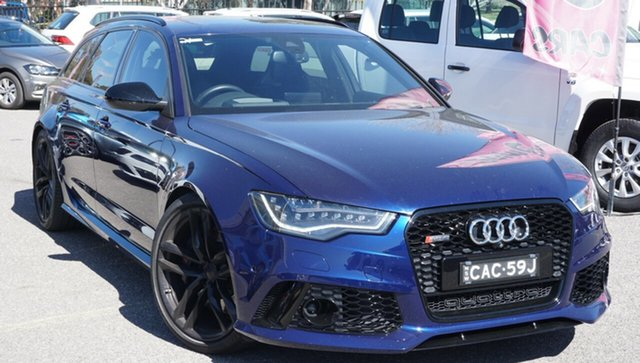 Used Audi RS6 4G Avant Tiptronic Quattro, 2014 Audi RS6 4G Avant Tiptronic Quattro Blue 8 Speed Sports Automatic Wagon