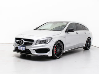 2015 Mercedes-Benz CLA45 AMG 4Matic Shooting Brake 117 Silver 7 Speed Auto Dual Clutch Wagon.