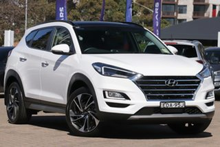 2019 Hyundai Tucson TL3 MY19 Highlander CRDi (AWD) Pure White 8 Speed Automatic Wagon.