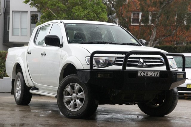 Used Mitsubishi Triton MN MY15 GLX, 2015 Mitsubishi Triton MN MY15 GLX White 5 Speed Manual Double Cab Utility