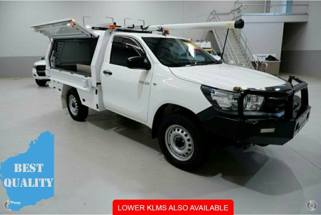 Used Toyota Hilux GUN125R Workmate, 2016 Toyota Hilux GUN125R Workmate White 6 Speed Sports Automatic Cab Chassis